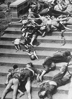 Chinese People Trampled to Death by Panic during Japanese Air Raid, Chungking, China by Unknown Artist