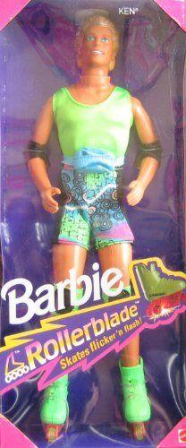 7b1b569154 1991 Rollerblade Ken Barbie Barbie Doll 2215 Ken Doll Only with  Rollerblades Doll doll figure parallel