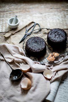 rich, moist chocolate lavender cake with mascarpone earl grey german buttercream by Beth Kirby | {local milk}, via Flickr