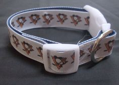Pittsburgh Penguins Dog Collar medium by dlkompare on Etsy, $13.00