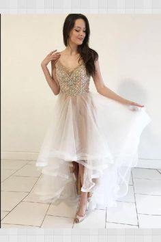 831ae2aebf22 Outlet Vogue Prom Dress Long, Prom Dress White, A-Line Prom Dress, Prom  Dress For Cheap
