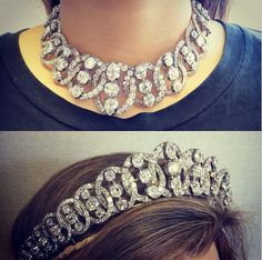 Multi-talented jewels. A mid-19th century diamond tiara/necklace. Available November 27th in London.