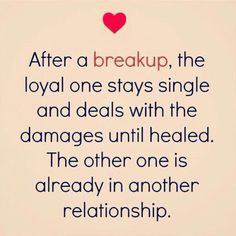 Truest words ever spoken! Here I am, 4 years post divorce, still single. He been in 4 different relationships and is remarried. I want to learn from my mistakes.....not repeat them.