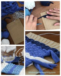 Recycle an old t-shirt and create these adorable handmade coasters with this great introduction to weaving concepts.