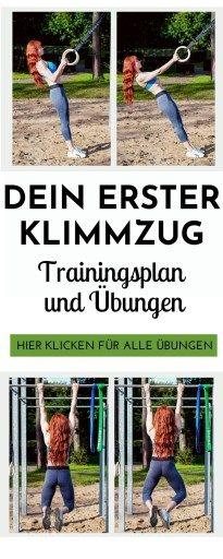 Dein erster Klimmzug - Übungen & Trainingsplan (für Frauen) - Laufvernarrt