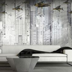 Papier peint The flying company