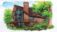 Home Plans HOMEPW26886 - 1,720 Square Feet, 3 Bedroom 2 Bathroom Chalet Home with