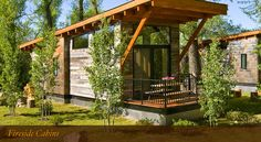 Fireside Resort, Jackson Hole's first nature lodging experience and only luxury summer and ski cabin resort. Each of our 19 one-bedroom Fireside Cabins represent a combination of both rustic and modern design.