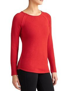 Varsity Sweater - Side zips and crazy soft fabric are a winning combination in this sporty pullover sweater.