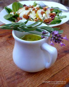 Honey White Wine Lavender Vinaigrette ~ Sumptuous Spoonfuls #salad dressing #recipe