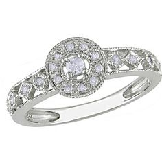 1/6 Carat T.W. Diamond Engagement Ring in 10kt White Gold