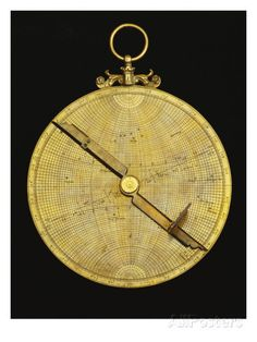 A Fine Late 16th or 17th Century European Brass Astrolabe Possibly ...