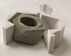 concrete geometric icosahedron