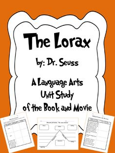 "Use ""The Lorax"", Book and Movie, to teach your students the Language Arts Standards in a FUN and exciting way: Context Clues, Making Inferences, Compare & Contrast, Elements of Fictions, etc."