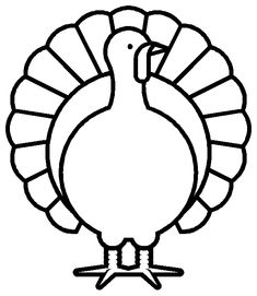 turkey coloring page. Site has great images for toddlers to color