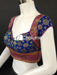 *Blue and Pink Choli