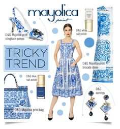 """Tricky trend: Majolica Print"" by serepunky ❤ liked on Polyvore"