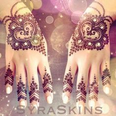 simple finger henna designs - Google Search
