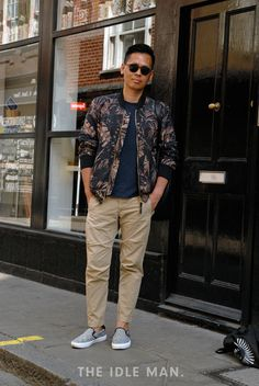Boss Bomber | Improve your style with a patterned bomber, by adding this piece you can make a bold statement with your look. Finish off with sunnies, Vans, T-shirt and chinos. | Shop men's clothing at The Idle Man