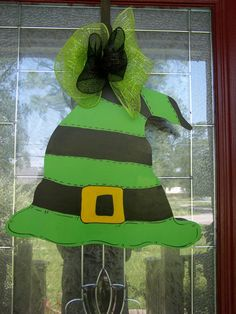 Halloween Witch Hat Door Hanger by samthecrafter on Etsy, $35.00