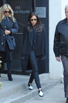 The dapperest of dappers the sophisticate Victoria Beckham rocking YSL oxford shoes!