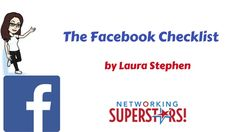 The Facebook Checklist Facebook Marketing, Social Media Marketing, Online Business, Knowledge, Author, Tools, Consciousness, Writers, Facts