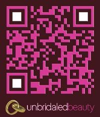 Our customized QR code for Marcella Cardinal's unBridaled Beauty