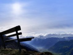 Bench at the top of the mountain wallpaper background Computer Wallpaper, Wallpaper Backgrounds, Mountain Wallpaper, New Theme, Skylight, Places To Visit, Bench, Mountains, Landscape