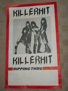 """Killerhit - Rare 1983 Promo Poster 15"""" x 24"""" Johnny & Joey Gioeli - Chris Gudat"""