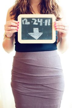 The due date chalkboard for announcing you're preggers