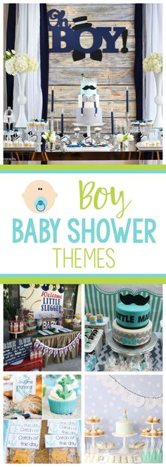 Baby Boy Baby Shower Themes and Ideas-Great baby shower themes for boys that will make your baby shower a huge hit! #babyshowers #babyshowerthemes #babyshowerthemeboys #boybabyshower