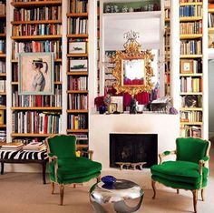 Ideas Home Cozy Living Room Bookshelves Interior, Home, Paris Living Rooms, Bookshelf Decor, Bookshelves In Living Room, Cozy Living, Interior Design, Beautiful Living Rooms, Home Library