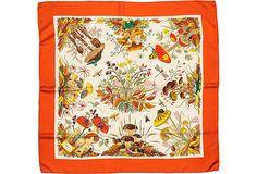 So deliciously '70s. (Gucci scarf, orange on OneKingsLane.com.)