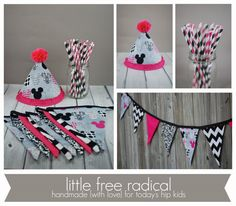 Minnie Mouse  Birthday Party Package  Fabric by LittleFreeRadical, $53.00