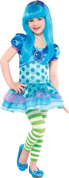 Toddler Girls Blueberry Muffin Costume - Strawberry Shortcake - Party City