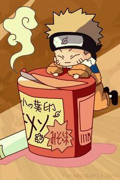 Chibi Naruto and his ramen.