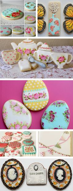 tea art cookies