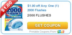 $1.00 off Any One (1) 2000 Flushes