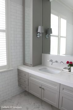 My Hamptons Style Bathroom: Gallerie B Shiplap Bathroom, Bathroom Renos, Bathroom Furniture, Bathroom Mirrors, Bathroom Cabinets, Cupboards, Bathroom Kids, Small Bathroom, Budget Bathroom