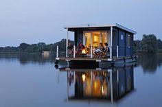 #Houseboat in Brandenburg, Germany