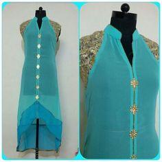 Trendy Georgette Kurtis   Buy online kurtis   Elegant Fashion Wear Price:1300+shipping #trendy #georgette #kurthi
