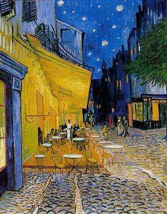 Terraza del café en la Place du Forum en Arlés (Van Gogh)