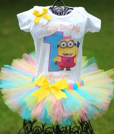 Hey, I found this really awesome Etsy listing at http://www.etsy.com/listing/158726593/despicable-me-birthday-outfit-minion