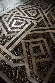 Tile Floor. Cathedral of Monreale. Palermo.