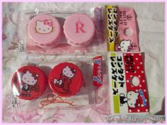 Cute Hello Kitty contact lens case.  Authentic, licensed Sanrio product from Japan.  In red or pink.  Buy $70 or more in store merchandise to get one of these lens cases for free!  Place this item in your cart, and the price will be refunded after your order has been processed.