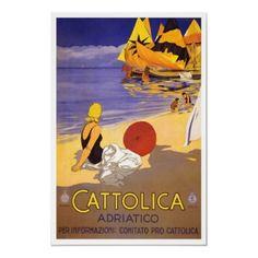 Mar de adriático de Italia do poster de viagens do por Zazzle_Vintage