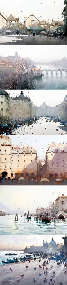 Watercolours by Joseph Zbukvic
