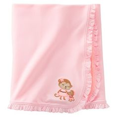 Just One You™Made by Carter's® Newborn Girls' Monkey Swaddle Blanket - Pink