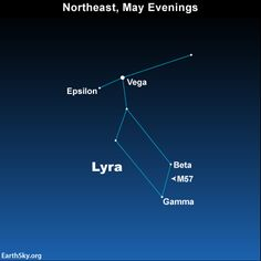 Look for bright star Vega on May evenings