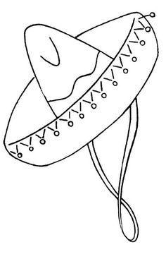 Free viva mexico coloring pages Mexican Embroidery, Hat Embroidery, Embroidery Transfers, Embroidery Patterns Free, Vintage Embroidery, Embroidery Stitches, Embroidery Designs, Mexican Hat, Mexican Style